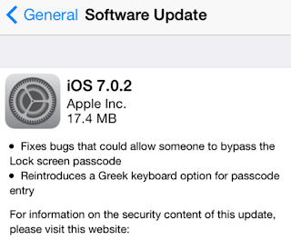 Apple iOS 7.0.2 is now Available for Download