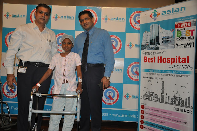 Doctors of Asian Hospital, Faridabad, rescued the 10-year-old spine from cutting