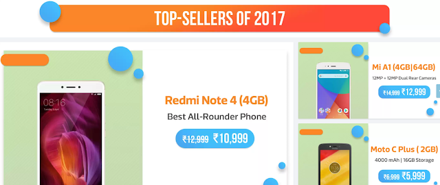 Flipkart announces Mobile Bonanza 2018- New year Sale Intrigue (3rd-5th Jan) 2