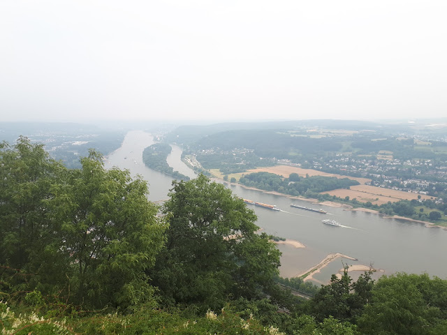 view over the Rhine from Drachenfells rock