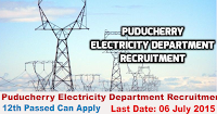 Puducherry Electricity Department Recruitment 2015