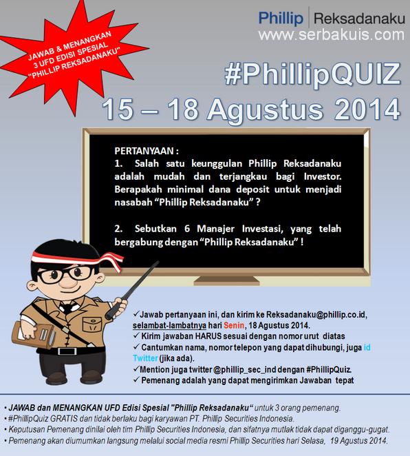 #PhilipQuiz Berhadiah 3 UFD Edisi Spesial dari @Phillip_sec_ind