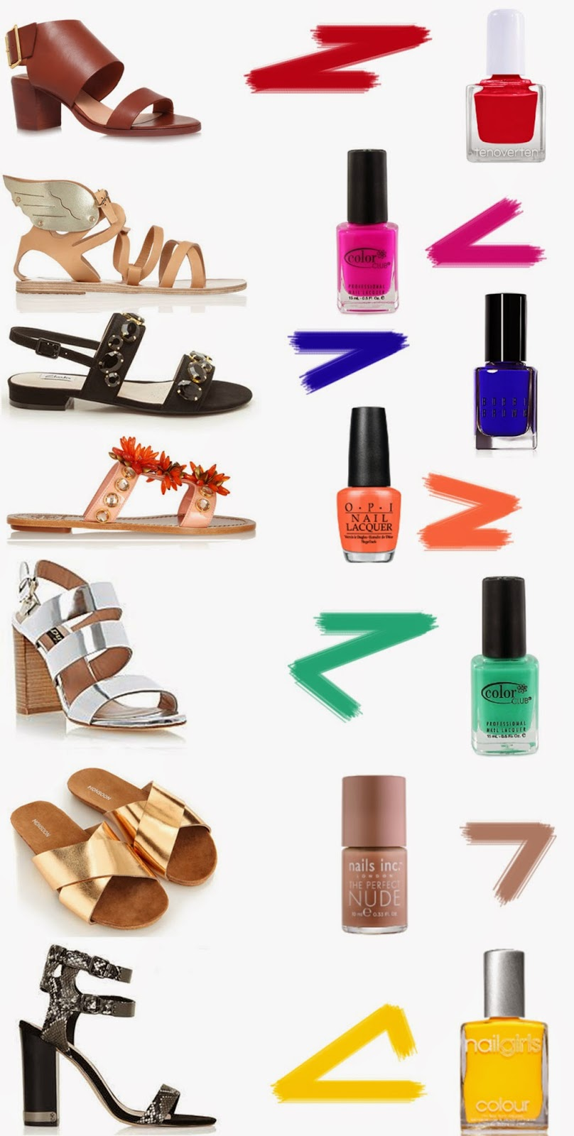 7 Hot Sandal & Polish Combinations
