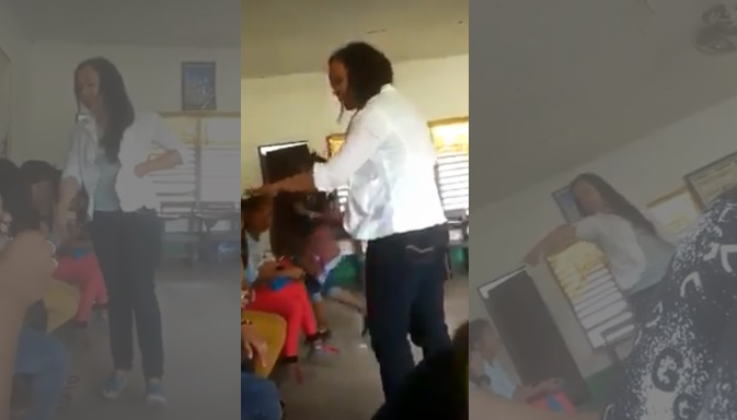 VIRAL VIDEO: Teacher shouts, threatens to hit a student