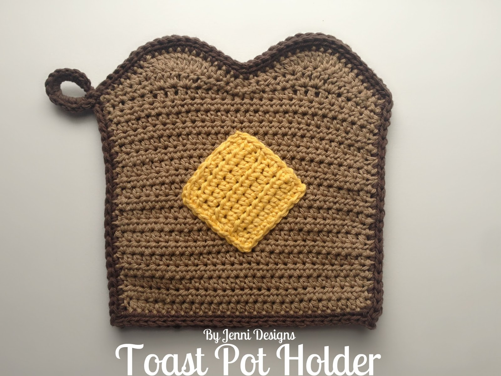 By Jenni Designs: Free Crochet Pattern: Toast Pot Holder