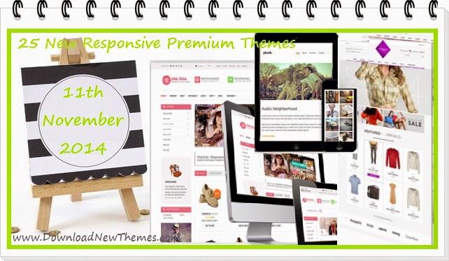 25 New Responsive Premium Themes