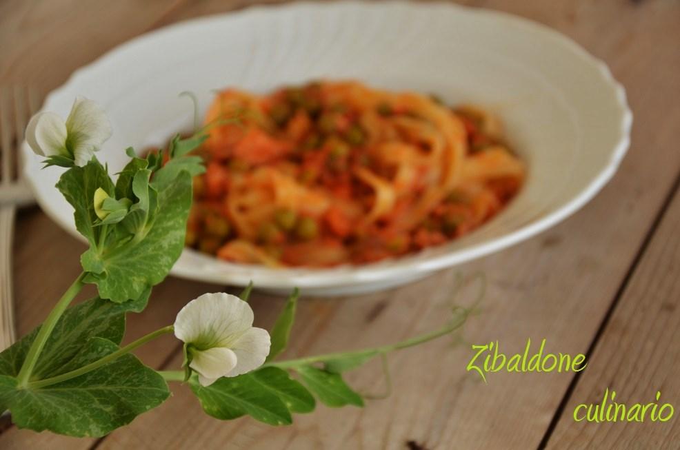 Zibaldone culinario nidi di pasta tonno e piselli for Ricette culinarie