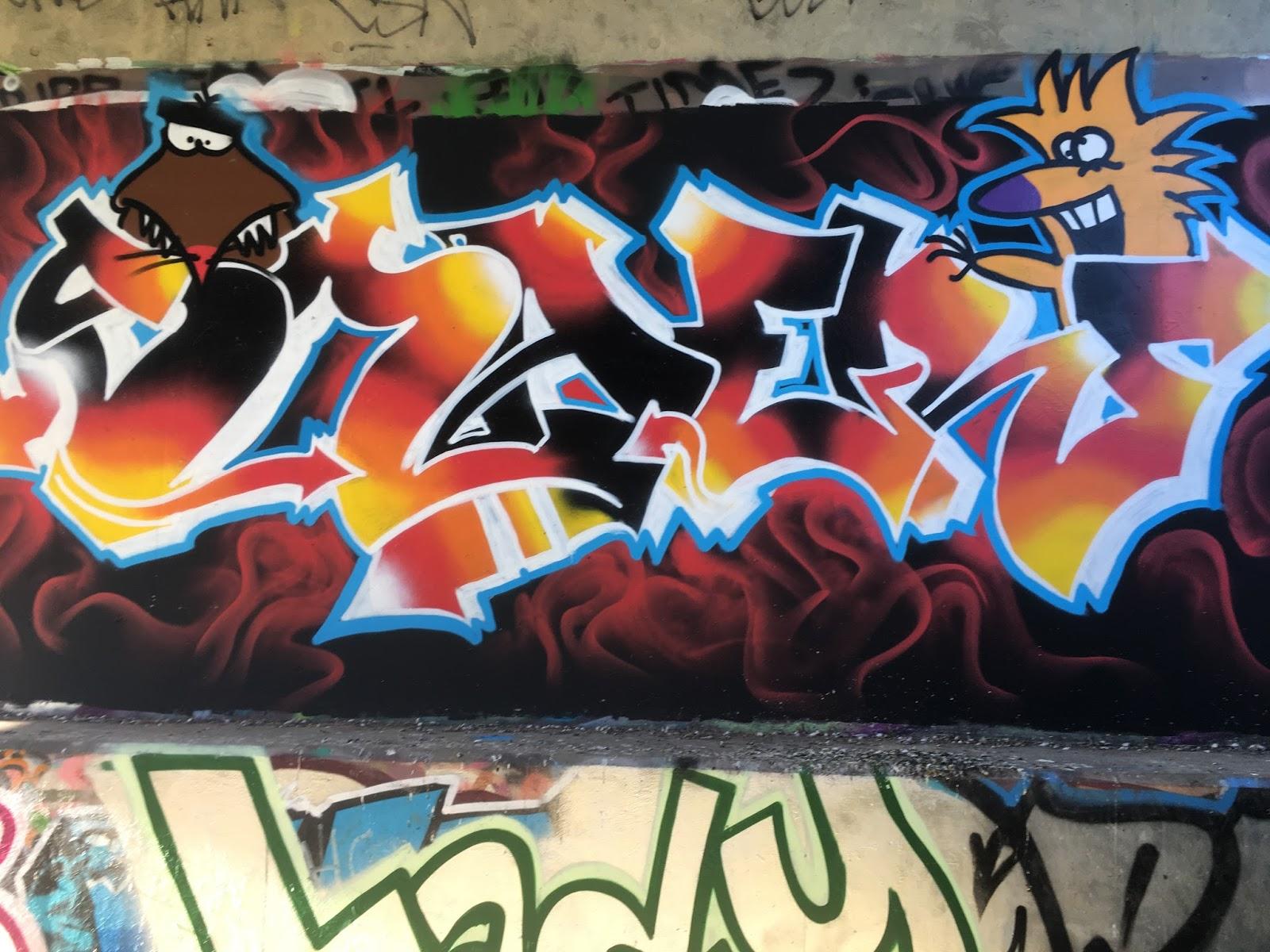 Comparison of two graffiti artists
