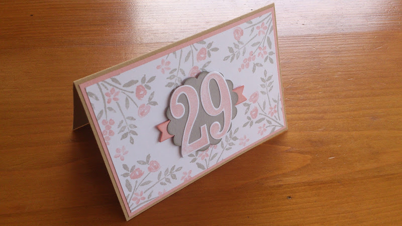 Geburtstagskarte Stampin Up!