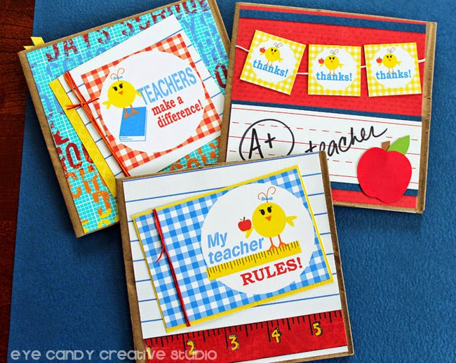 finished teacher appreciation cards, teacher gift idea, kids craft, school
