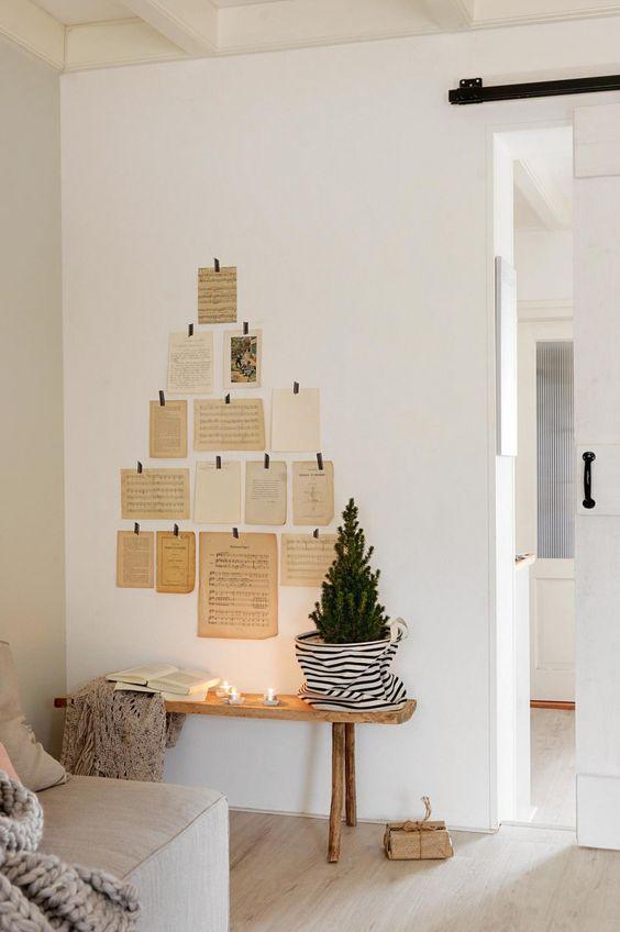Árbol de Navidad rápido y sencillo estilo vintage