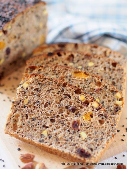 chlbe z bakaliami, bakalie, suszone owoce, bochenek chleba, domowa piekarnia, jak piec chleb, upiecz chleb