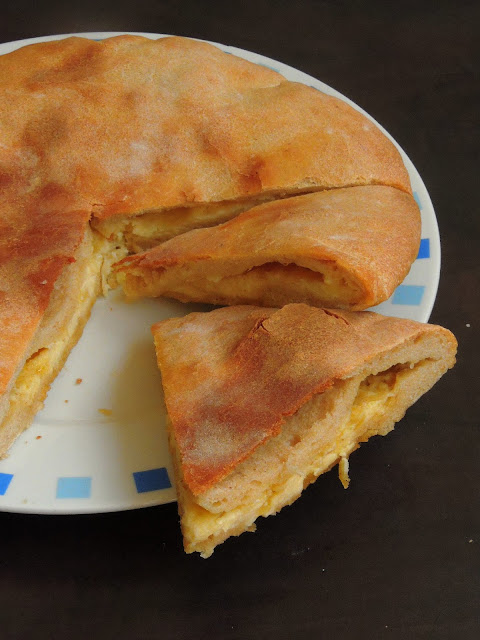 Imeretian Khachapuri, Georgian Cheese flatbread