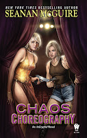 Chaos Choreography book cover featuring Verity Price and Alice Healy