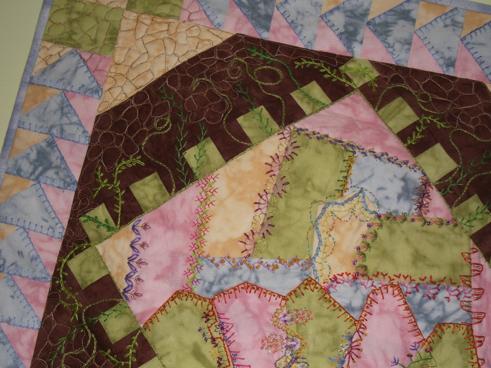Good Earth Quilting A Little Crazy Quilting My Secret