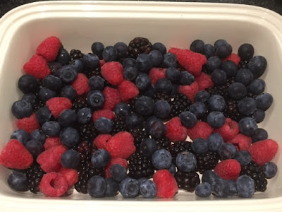 Summer fruits in a dish