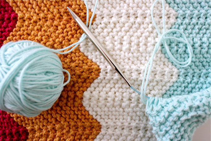 Celebrate BABY—the knitted chevron blanket. Done! - MADE ...