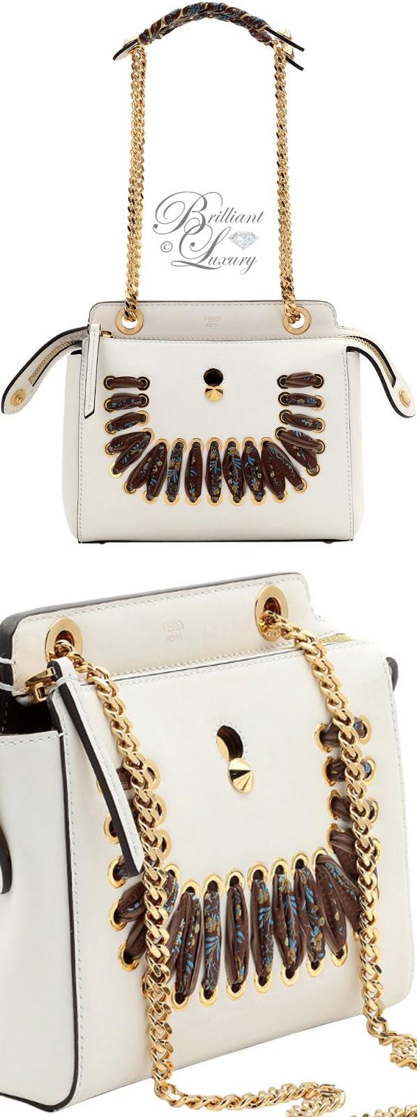 Brilliant Luxury ♦ Fendi Dotcom Ribbon-Laced Shoulder Bag #white
