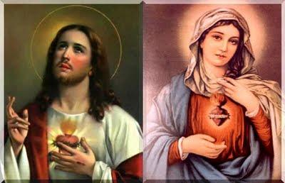 Resultado de imagem para mensagem sobre os corações de jesus e maria