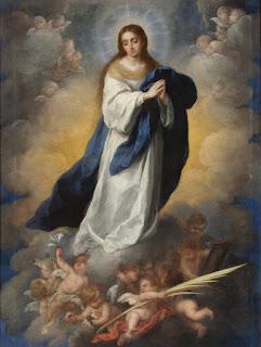 Inmaculada del Espejo - Murillo - Óleo sobre lienzo 1660-78 192,5x145 cm Museo de Arte de Ponce - Puerto Rico