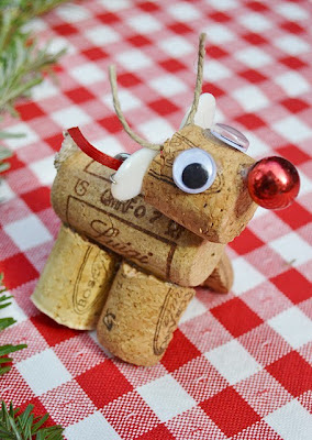 artesanato com rolhas para o Natal
