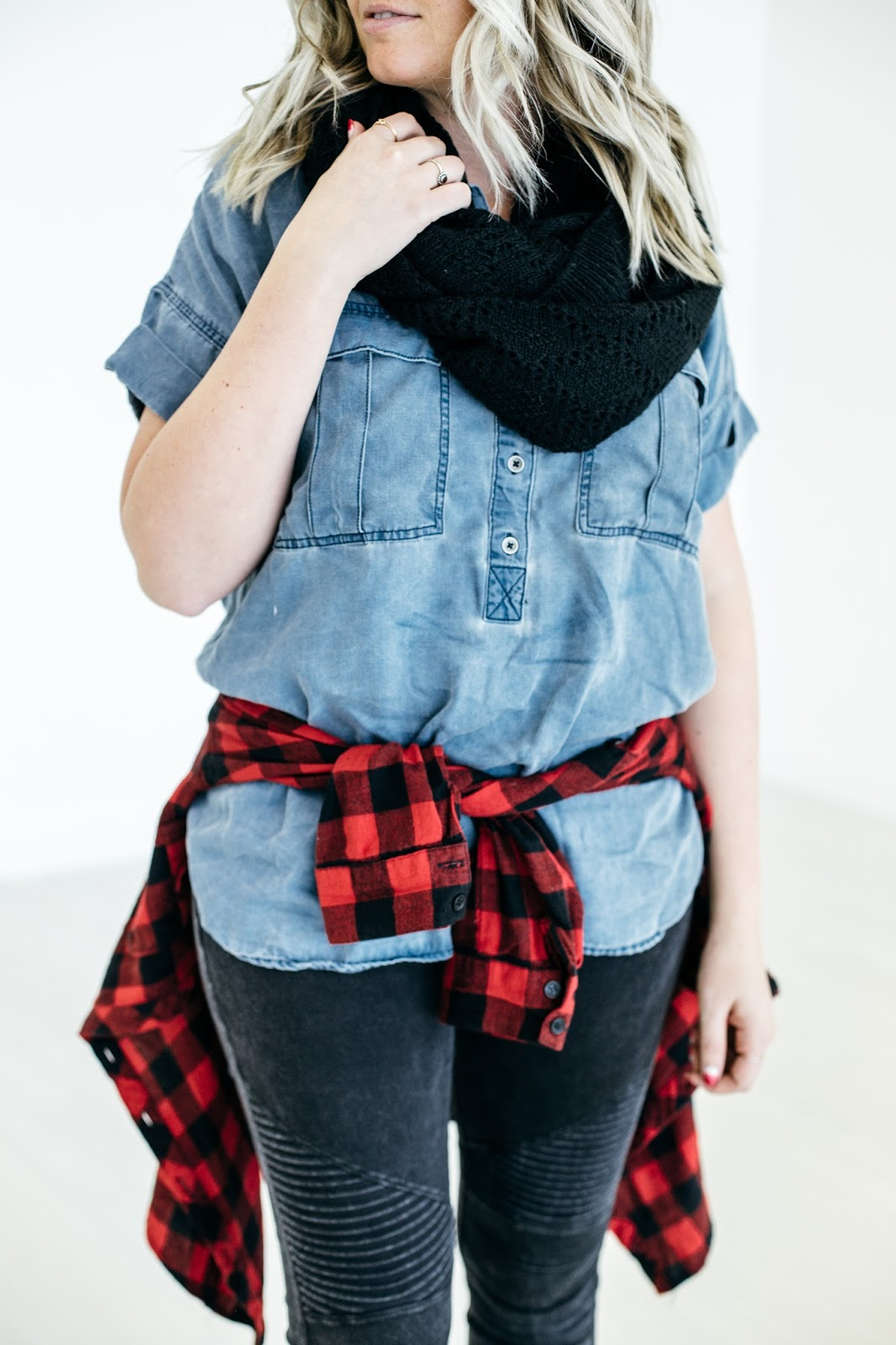 Denim top, chambray top, Utah Fashion Blogger