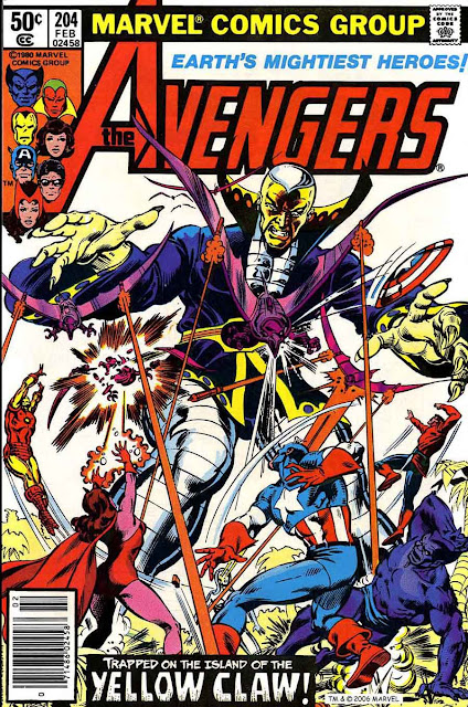 Avengers v1 #204 marvel comic book cover art by Don Newton