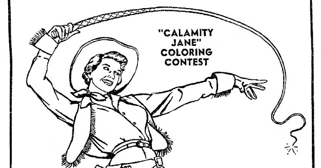 Mostly Paper Dolls: CALAMITY JANE Movie Coloring Contest