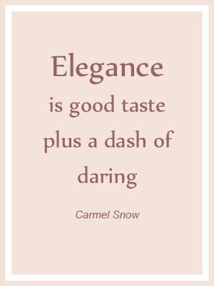 Elegance Quote By Carmel Snow