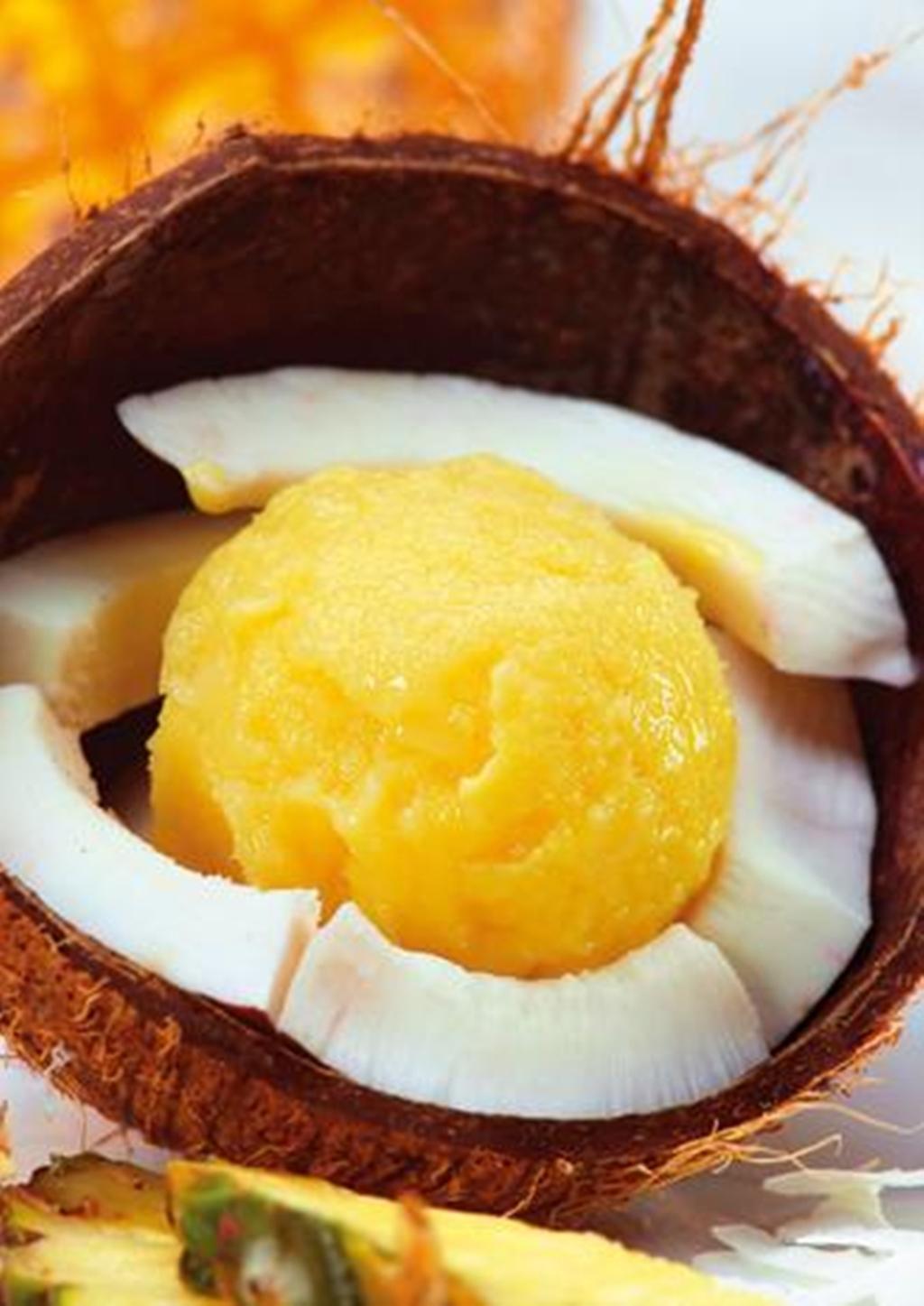 Ananas-Eis mit Kokos - Pineapple Ice with Coco Recipe