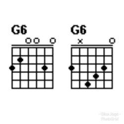Chord gitar G6