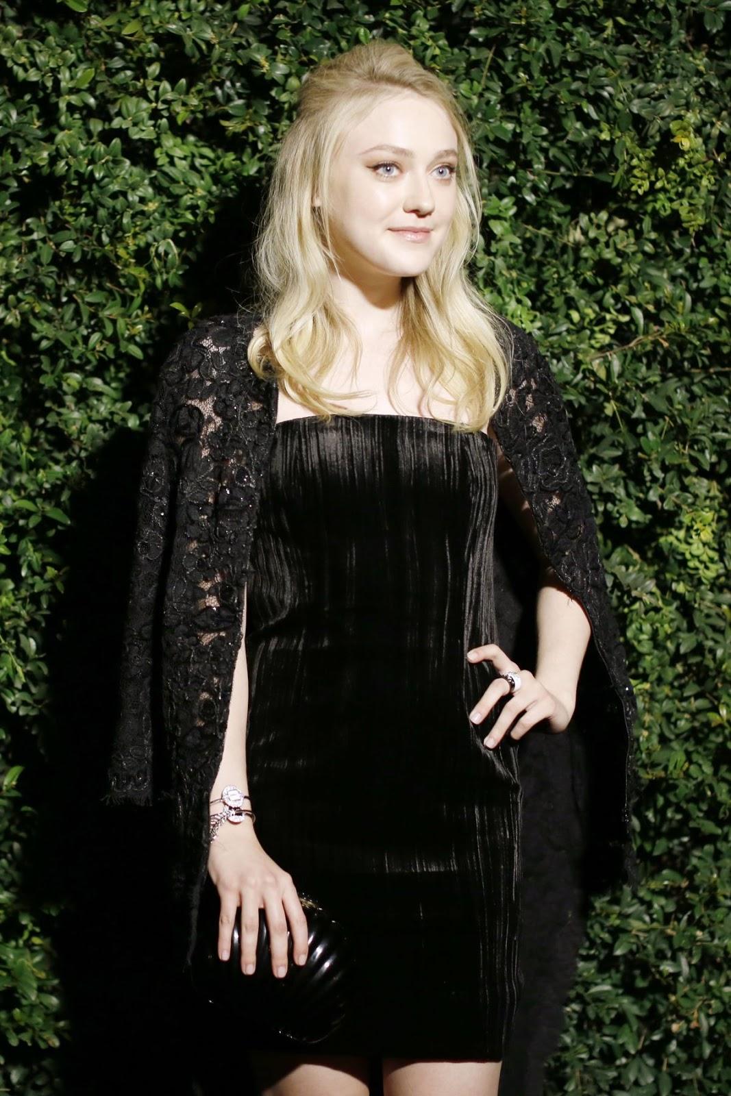 Brimstone actress Dakota Fanning at Chanel & Charles Finch Pre-Oscar Party 2016