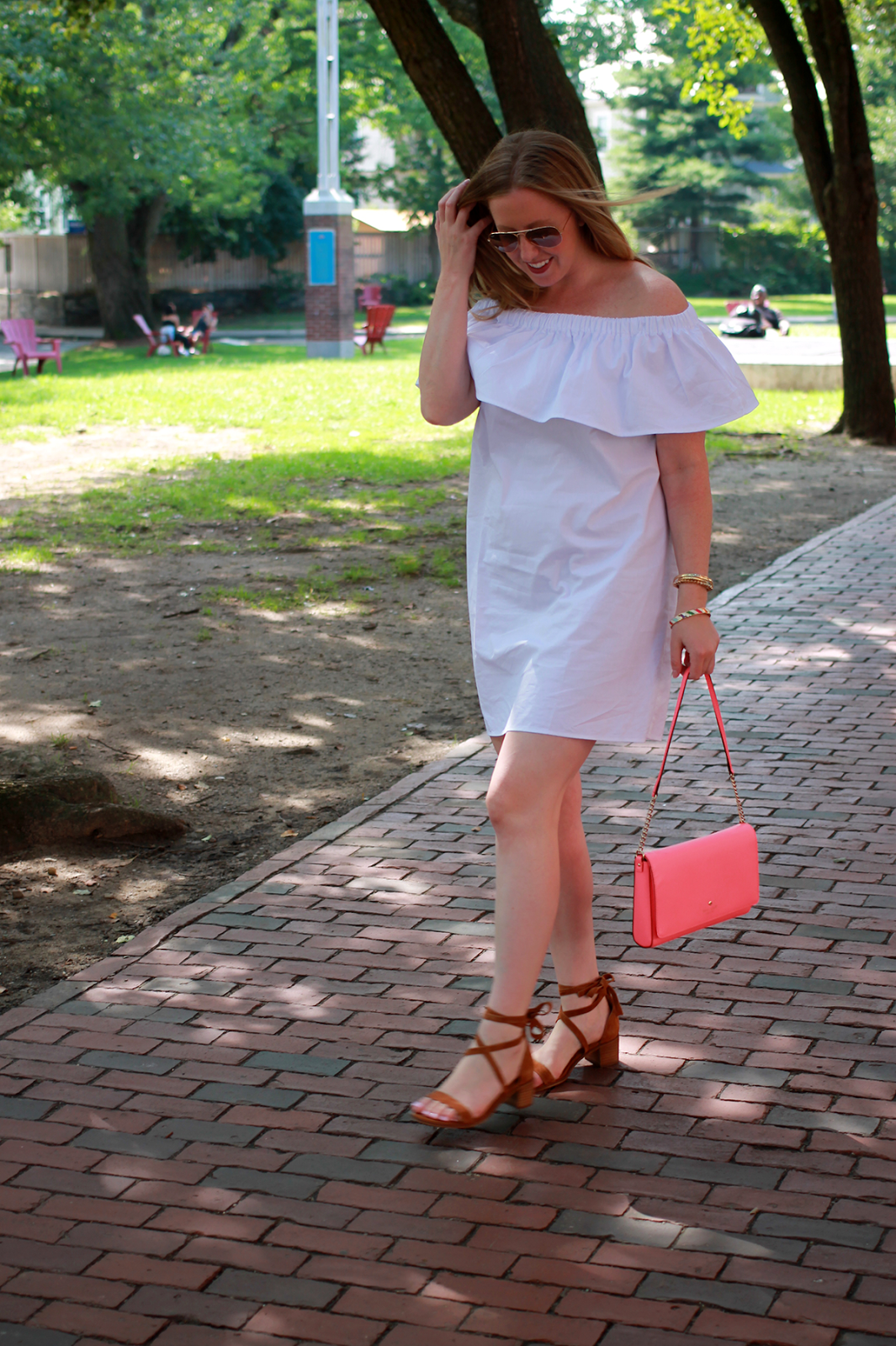 somerville style blogger, boston blogger influencer, steve madden lace up sandals