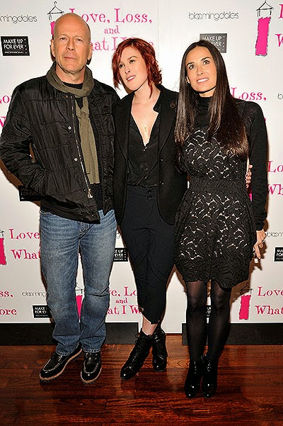 Bruce Willis and Demi Moore and her daughter Rumer