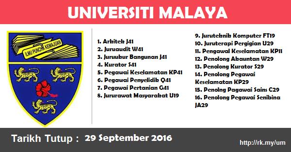 Jawatan Kosong di Universiti Malaya