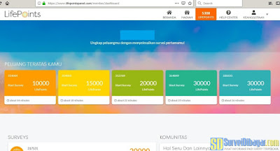 Survey online LifePoints sudah bisa dibuka melalui browser di PC. | SurveiDibayar.com