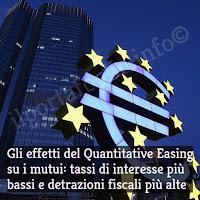 effetti del quantitative easing della bce sui tassi di interesse dei mutui
