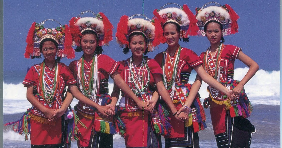 collect roc taiwan aborigines postcard amis tribes in