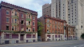 """Detroit - """"Motown"""", eine sterbende Stadt des Automobilbaus in Michigan, USA"""