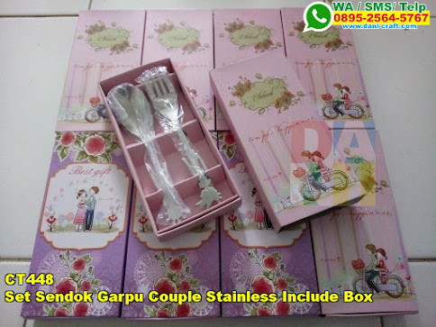 Toko Set Sendok Garpu Couple Stainless Include Box