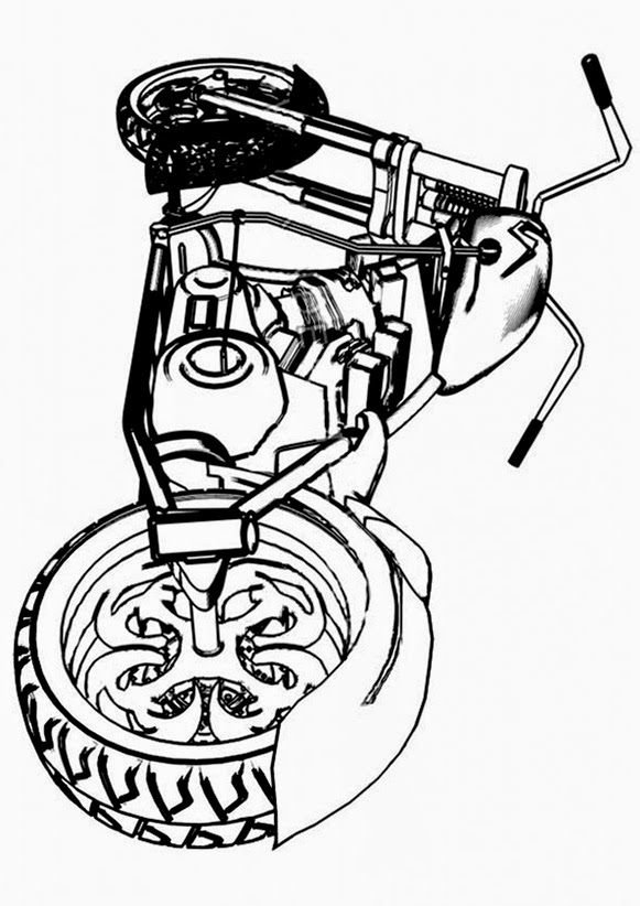 ausmalbilder motorrad  bilder zum ausmalen