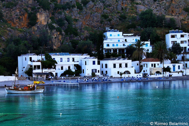 Town of Loutro from the Ferry Samaria Gorge Hike Crete Greece