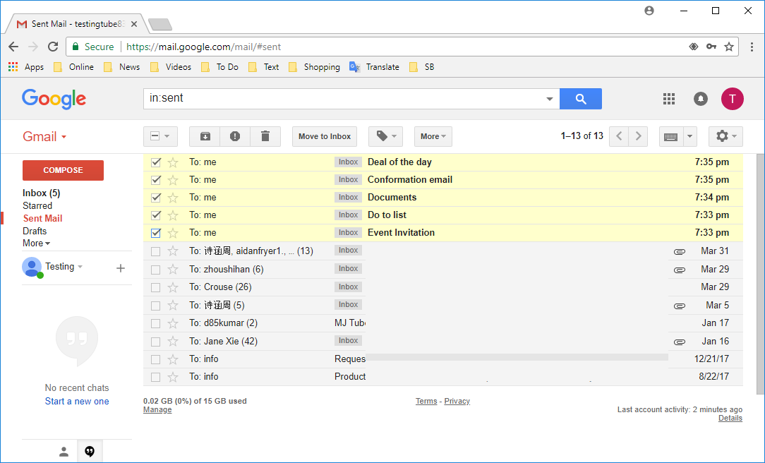how to delete all read unread sent emails at once in gmail how to detail