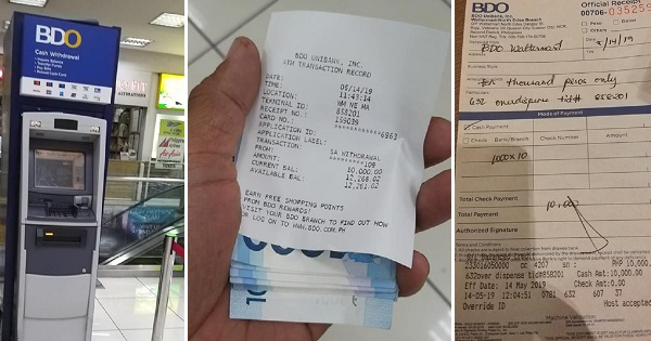 Guy finds Php10k at ATM, hopes to find the rightful owner