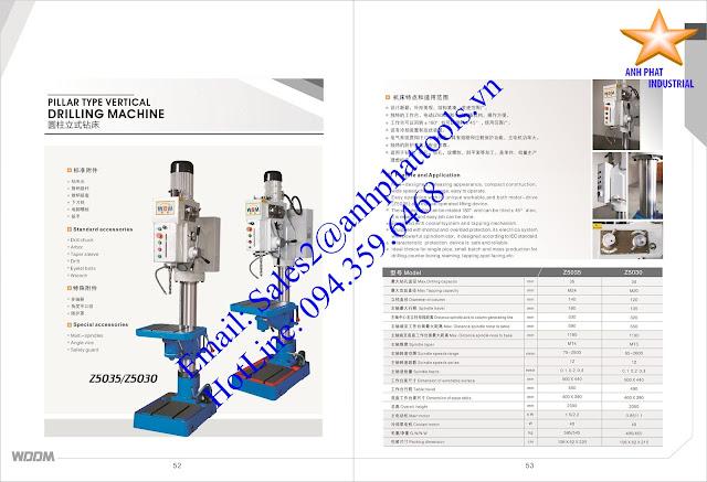 Máy Khoan và Taro Cao Cấp Thương Hiệu WDDM 0.85kw - 1.1kw