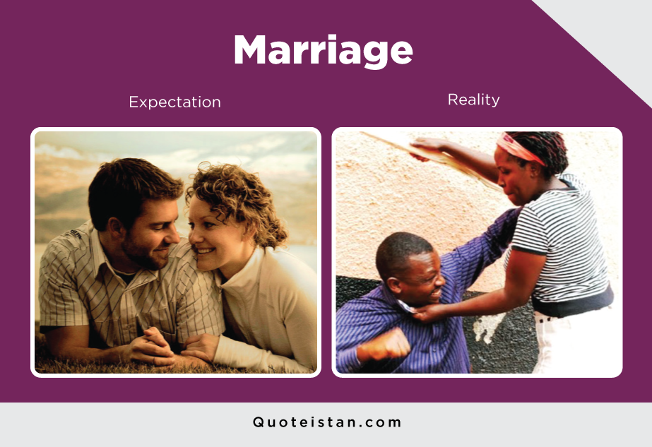 Expectation Vs Reality: Marriage