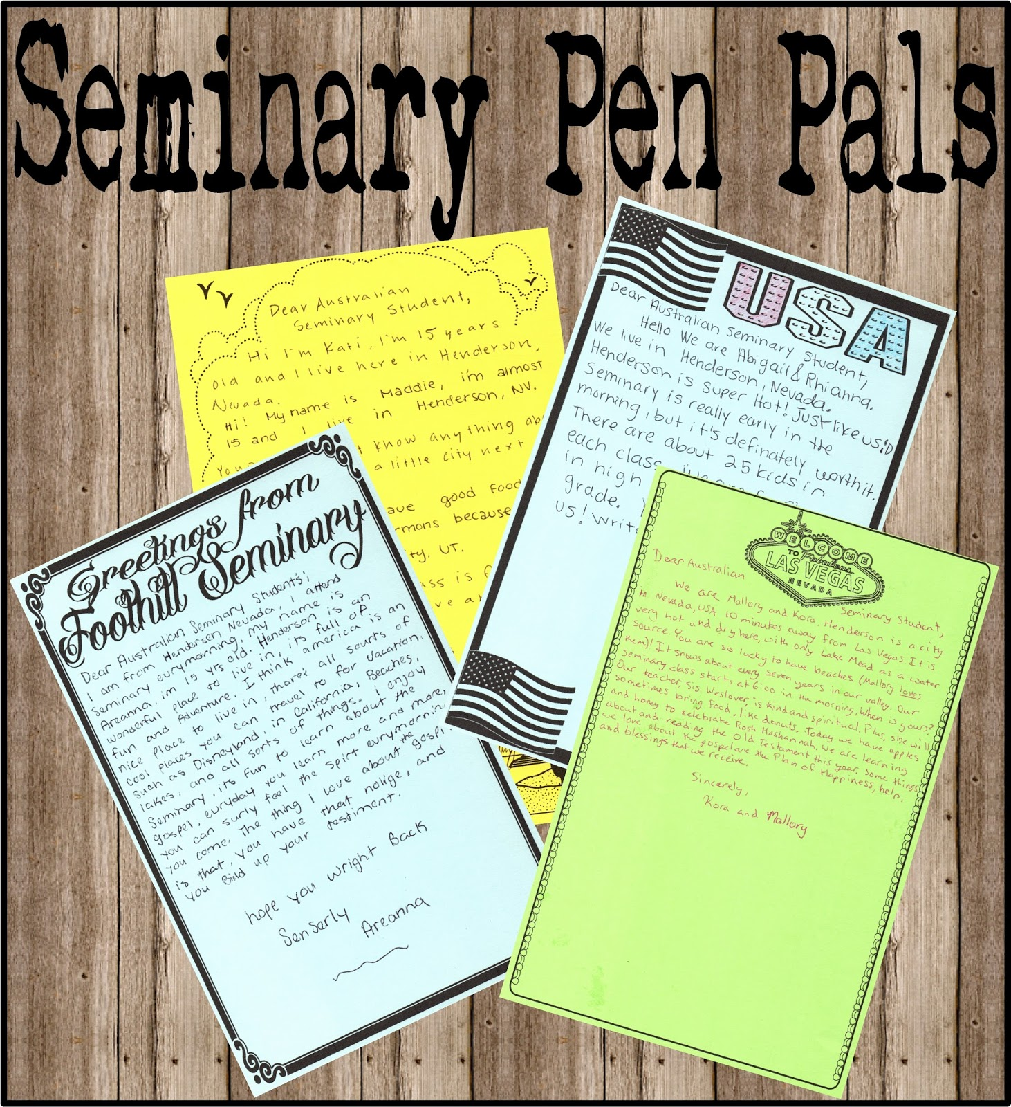 HollysHome - Church Fun: LDS Seminary Pen Pal Letters - How we've