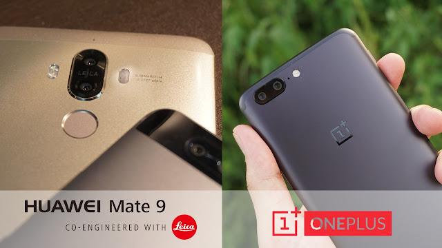 【OnePlus 5 VS Huawei Mate 9】デュアルカメラの2大スマホOP5 と Mate 9を徹底比較です!