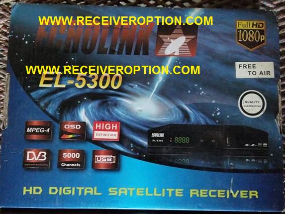 ECHOLINK EL-5300 HD RECEIVER BISS KEY OPTION