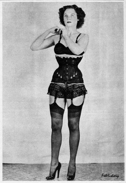 National Police Gazette, Charles Guyette, Irving Klaw, corset, Edythe Farrell, fetish model